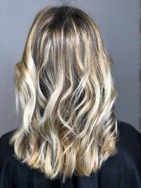 OMBREHAIR MECHES BABYLIGHT BLOND POLAIRE BALAYAGE CALIFORNIEN HAIRCONTOURING